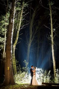 married and wedding under the stars
